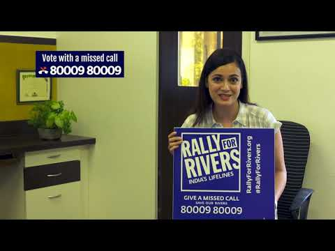 Dia Mirza for Rally for Rivers