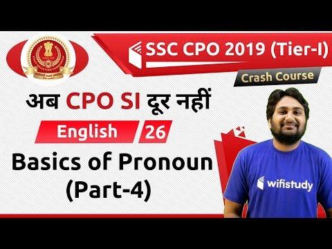 6:00 PM - SSC CPO 2019 (Tier-I) | English by Harsh Sir | Basics of Pronoun (Part-4)