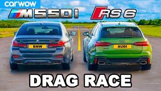 [carwow] Audi RS6 v BMW M550i: DRAG RACE
