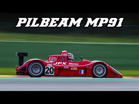 2003 Pilbeam MP91 - Straight Exhaust V6 Fly-by's,backfire & Loud Downshifts (Spa 2018)