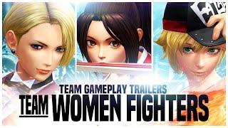 "KOF XIV - Team Gameplay Trailer #16 ""WOMEN FIGHTERS"""