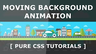 Pure CSS Moving Background Image - CSS Animation with keyframes - Repeating Background Animation
