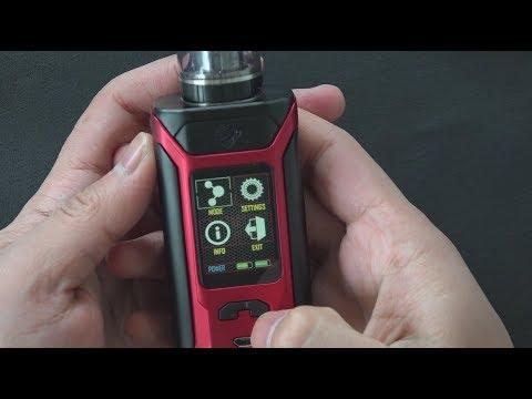 Wismec Sinuous RAVAGE230 в комплекте с GNOME Evo (230W, без аккумуляторов) - видео 2