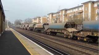preview picture of video 'Freight Trains at Kensington Olympia 20 March 2013'