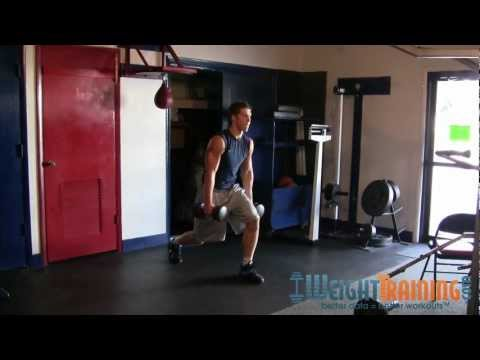 Dumbbell Split Jump