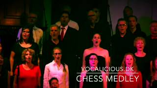 Vocalicious performs a medley of songs from the musical Chess Sound is a bit inconsistent