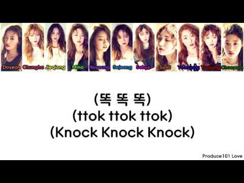 IOI ~ Knock Knock Knock Color Coded Lyrics (Han/Rom/Eng)