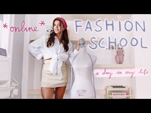 day in the life of an online fashion design student