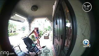Doorbell camera records suspicious activity at Boca Raton home