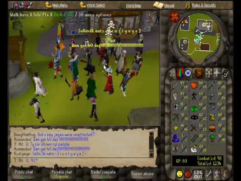 RuneScape :: 3 Hit U The First Pure With 99 Hits + 1 Magic