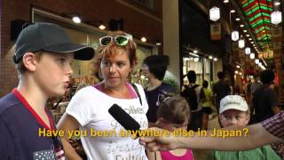 Travelers' Voice of Kyoto: NISHIKI MARKET Area Interview 010