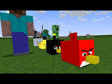 Monster School : PLAY ANGRY BIRDS CHALLENGE - Minecraft Animation