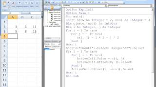 Download Youtube: Excel VBA Topic 9.2 - Multidimensional Arrays (matrices)