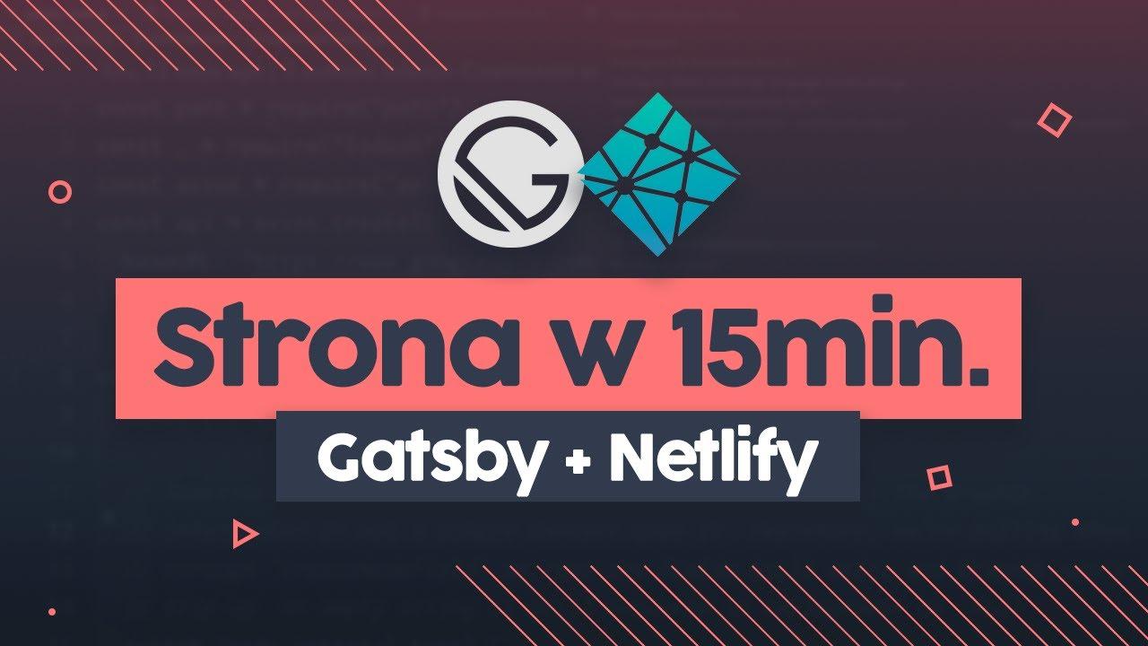 Strona internetowa w 15 min z Gatsby.js i Netlify | Przeprogramowani ft. code v0.0.2 cover image