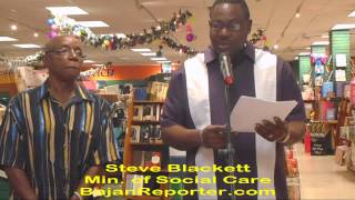 preview picture of video 'Former Senator launches Collection of Essays at Pages in Bridgetown'