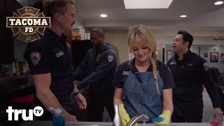 Tacoma FD - The Tacoma FD Squad Pranks Lucy With Never Ending Dishes (Clip) | truTV