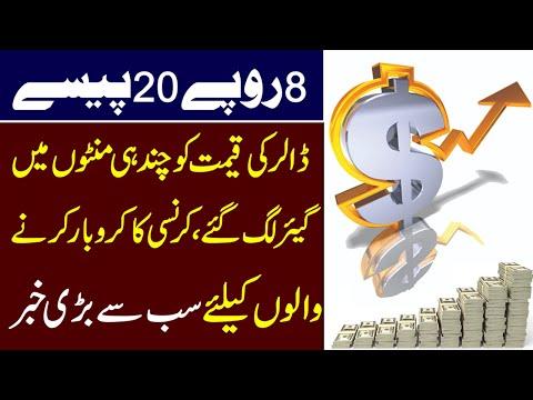 آٹھ روپے بیس پیسے،ڈالر کی قیمت کو چند ہی گھنٹوں میں پر لگ گئے۔