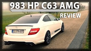 983 HP  1337 Nm Mercedes C63 AMG 4Matic GAD Motors Review | AMG Hypercoupe (ENGрусский Subtitles)