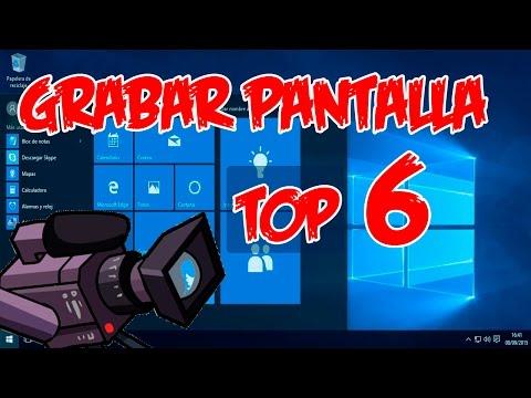 Top 6 programas para grabar la pantalla del ordenador