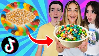 EATING ONLY Viral TikTok FOOD HACKS for 24 Hours!!
