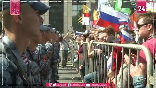 Thousands protest in Moscow after opposition barred from vote