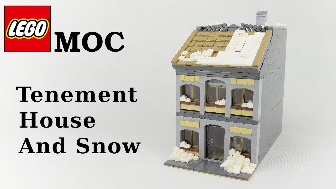 Lego MOC - Tenement House And Snow