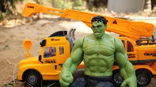 The Hulk & Crane truck for children | Rescue Excavator
