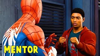 Spiderman Teaches Miles How To Fight Crime   Marvel's Spiderman 2018   PS4 Pro HD