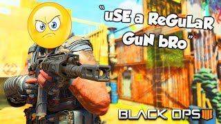 """uSE a ReGuLAR GuN bRo!"" (Black Ops 4 Knife Only Rage Reactions)"