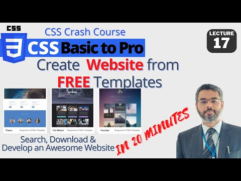 CSS Lecture 16: Download and Edit Website Templates   Create ...