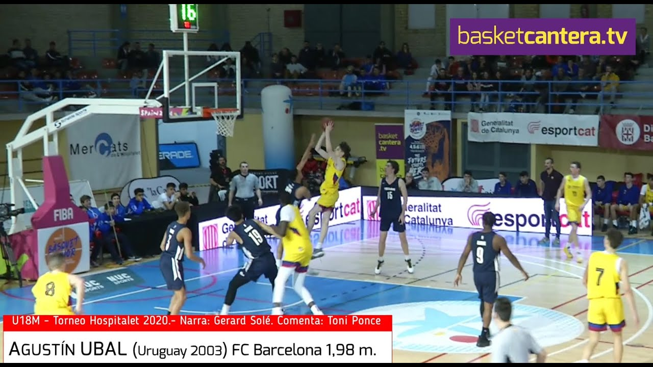 AGUSTÍN UBAL (Uruguay '03) FC Barcelona 1.98 m. Torneo U18 Hospitalet 2020 (BasketCantera.TV)