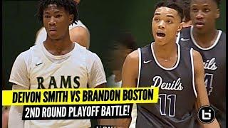 Brandon Boston BATTLES vs Elite PG DEIVON SMITH In 2nd Round of Playoffs!!