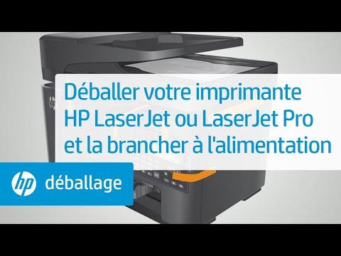 Déballage et connexion de votre imprimante HP LaserJet à l'alimentation