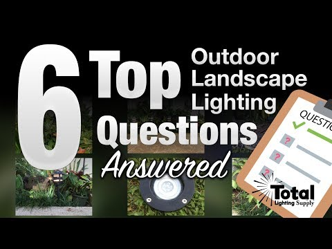 6 Top Outdoor Landscape Lighting Questions Answered