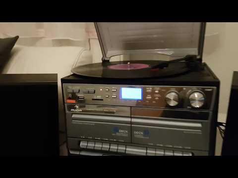 Auna TC-386W Hifi Anlage Stereoanlage mit Schallplattenspieler Encoder