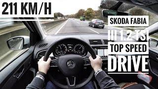 Skoda Fabia III 1.2 TSI (2017) - POV On German Autobahn - Top Speed Drive