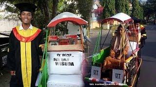 Viral Tukang Becak Lulus Sarjana Manajemen di Majene, Wisuda Mengendarai Becaknya bersama Sang Ibu