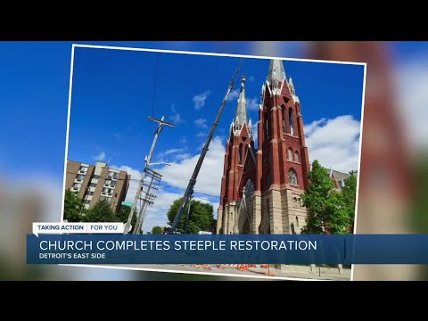Historic Detroit church completes three years' worth of repairs with help from community