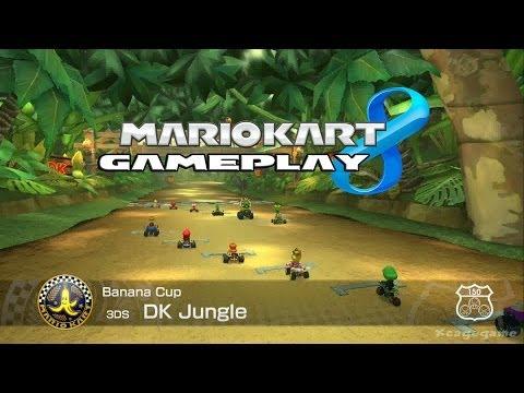Mario Kart 8 - DK Jungle ( 3DS )  - Banana Cup - Roy Gameplay [ HD ]