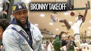 Bronny James TAKES FLIGHT On Defender! BJ Boston TOO NICE In Front Of SOLD OUT CROWD!