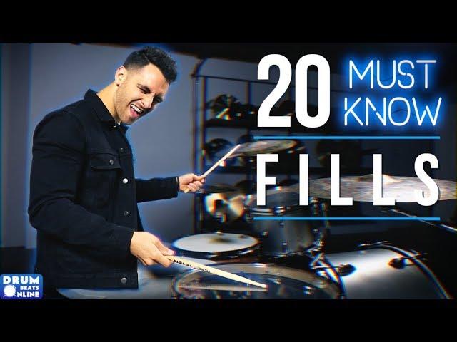 20 MUST KNOW Drum Fills For Beginner Drummers | Drum Beats Online