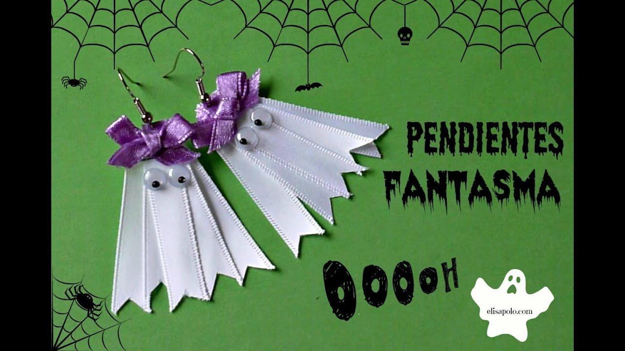 Pendientes Fantasma, Cómo Hacer unos Aretes para Halloween, Manualidades para Halloween