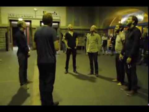 800 year old Icelandic hymn sung in a trainstation. Chills.