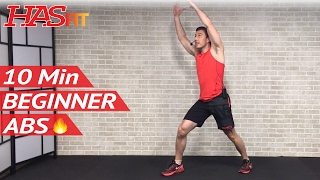 10 Min Easy Abs Workout for Beginners & People Who Get Bored Easily - Beginner 10 Minute Ab Workout by HASfit