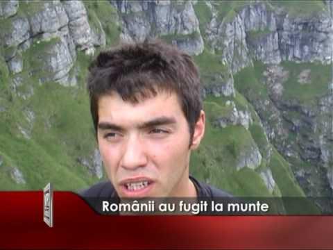 Românii au fugit la munte