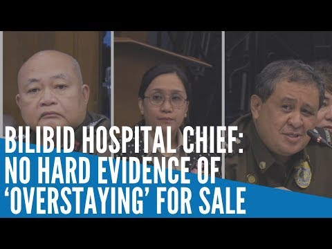 [Inquirer]  Bilibid hospital chief: No hard evidence of 'overstaying' for sale