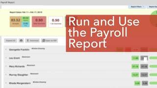 Run & Use the Payroll Report