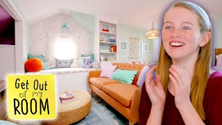 Girl Gets AMAZING Beach-Themed Bedroom AND Personal Living Room! | Get Out Of My Room