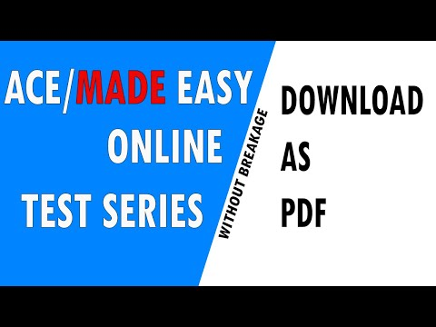 ACE/MADE EASY GATE/ESE Online Test Series download