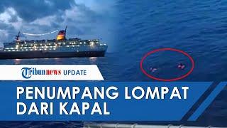 Video Detik-detik Penumpang Lompat ke Laut, Kapal Tak Boleh Bersandar Setelah 3 Kru Positif Corona